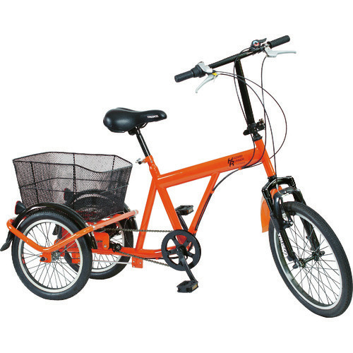 ■TRUSCO 災害時用ノーパンク三輪自転車 ハザードランナートライ THR5503 トラスコ中山(株)[TR-7690215] [個人宅配送不可]