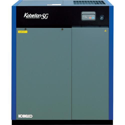 ■コベルコ 油冷式スクリューコンプレッサー 7.5kW SG100AD3-7.5 [TR-7728417] [個人宅配送不可]
