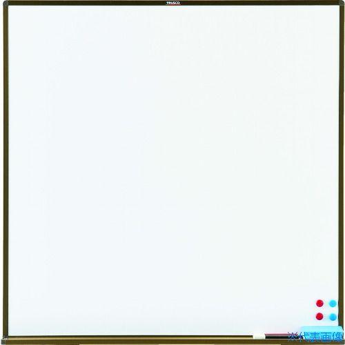 ■TRUSCO スチール製ホワイトボード 白暗線 白 900X900 WGH33SA-W トラスコ中山(株)[TR-7730349] [個人宅配送不可]