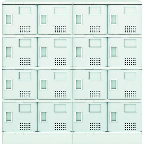 ■アイリスチトセ 樹脂ロッカー16人用 グレー TJL-S44ST-GR [TR-7732899] [送料別途お見積り]