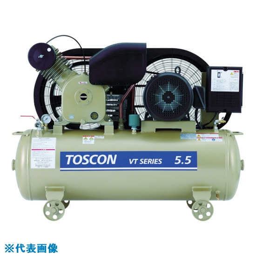 ■東芝 タンクマウントシリーズ 給油式 コンプレッサ(低圧) VT106-7T [TR-7738668] [個人宅配送不可]