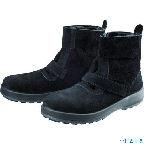 ■シモン 安全靴 WS28黒床 24.5cm WS28BKT-24.5 (株)シモン[TR-7847645]