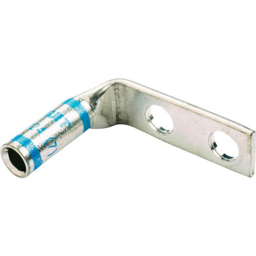 ■パンドウイット 銅製圧縮端子 標準バレル 2つ穴 90°アングル (50個入) LCD6-14AF-L [TR-7851341]