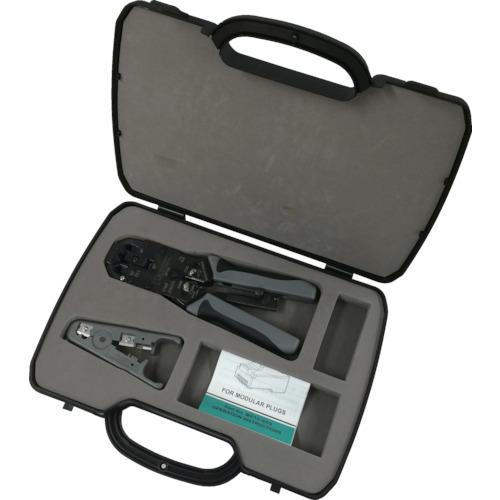 ■パンドウイット モジュラプラグ圧着工具 マルチタイプ ケース付キット〔品番:MPT5E-KIT〕[TR-7868171]