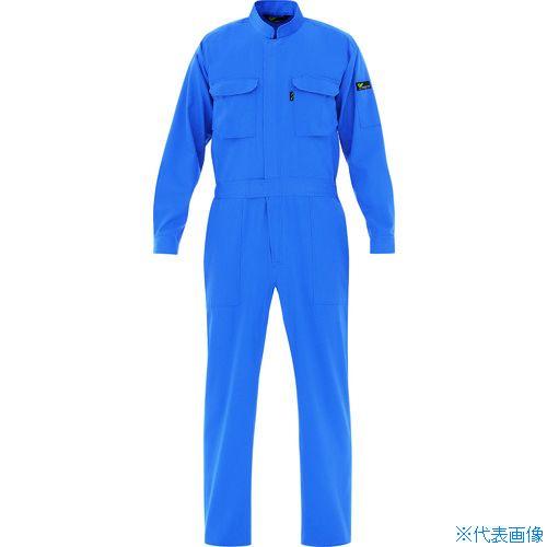 ■ミドリ安全 ベルデクセル T/C帯電防止ツナギ服 ブルー LL VE ミドリ安全(株)[TR-7949863]