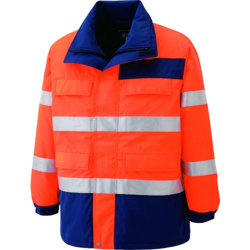 ■ミドリ安全 高視認性 防水帯電防止防寒コート オレンジ L SE1125-UE-L ミドリ安全(株)[TR-7978812]