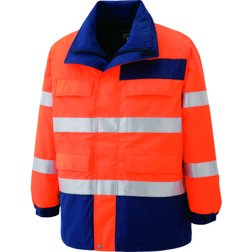 ■ミドリ安全 高視認性 防水帯電防止防寒コート オレンジ SS SE1125-UE-SS ミドリ安全(株)[TR-7978855]