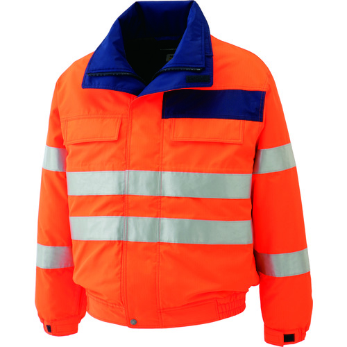 ■ミドリ安全 高視認性 防水帯電防止防寒ブルゾン オレンジ 4L SE1135-UE-4L ミドリ安全(株)[TR-7978952]