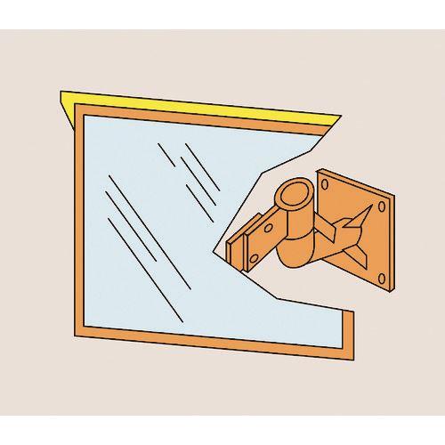 〔品番:277210〕[TR-8151543][送料別途見積り][法人・事業所限定][外直送] ■緑十字 アクリル製 500×600MM 壁面金具付 カーブミラー(角型1面鏡)