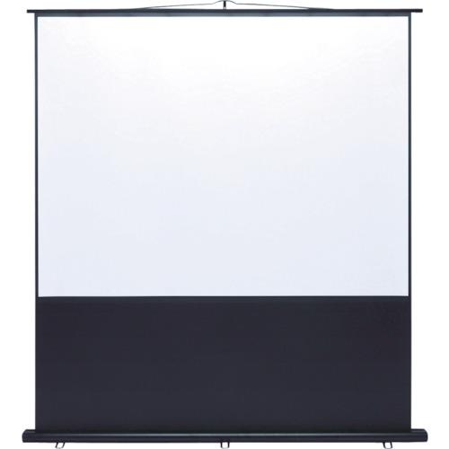 ■SANWA プロジェクタースクリーン 床置き式 PRS-Y100K [TR-8183941] [個人宅配送不可]