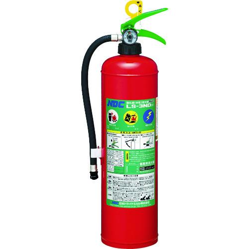 ■ドライケミカル 中性強化液消火器3型 蓄圧式  〔品番:LS-3ND(5)〕[TR-8186885]