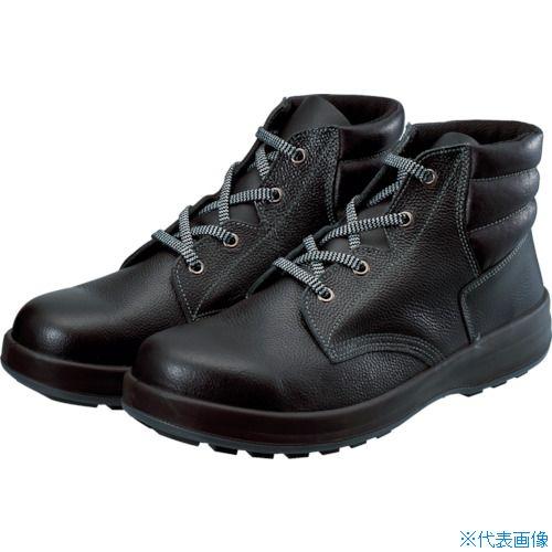 ■シモン 3層底安全編上靴 24.5cm ブラック WS22BK-24.5 (株)シモン[TR-8192403]