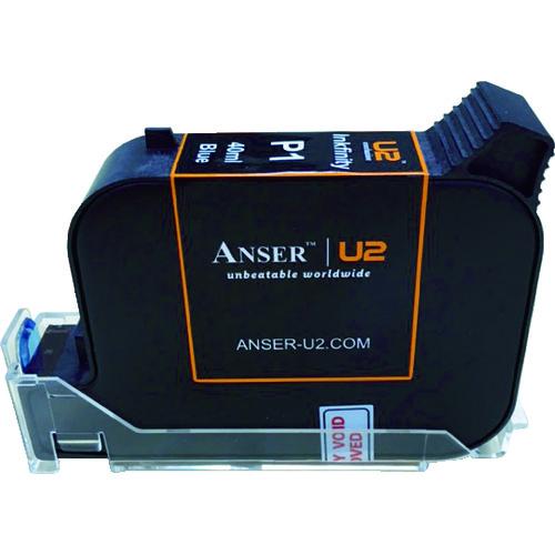 ■テクノマーク U2用42ccインク 青 AU203-001-6 山崎産業(株)[TR-8194052]