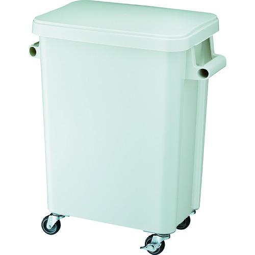 ■リス 厨房用キャスターペール45L 排水栓付 グレー GGYK001 リス(株)[TR-8194055] [個人宅配送不可]