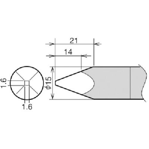 ■グット 替こて先 RX-892AS用 15A RX-89HRT-15A 太洋電機産業(株)[TR-8279363]