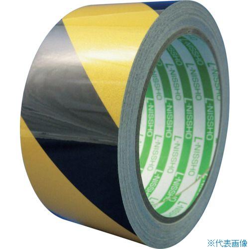■日東エルマテ 再帰反射テープ 200mmX10m イエロー/ブラック HT-200YB [TR-8290909]