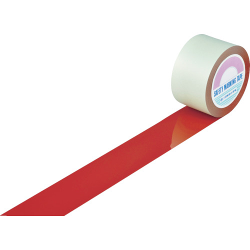 ■緑十字 ガードテープ(ラインテープ) 赤 75mm幅×20m 屋内用 148114 (株)日本緑十字社[TR-8353761]