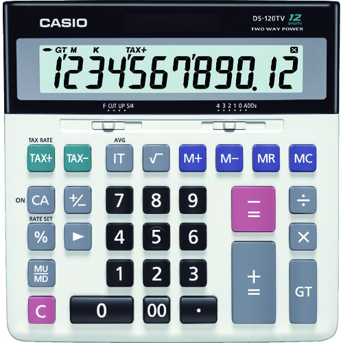 ■カシオ 加算器実務電卓 DS-120TW カシオ計算機(株)[TR-8362054]