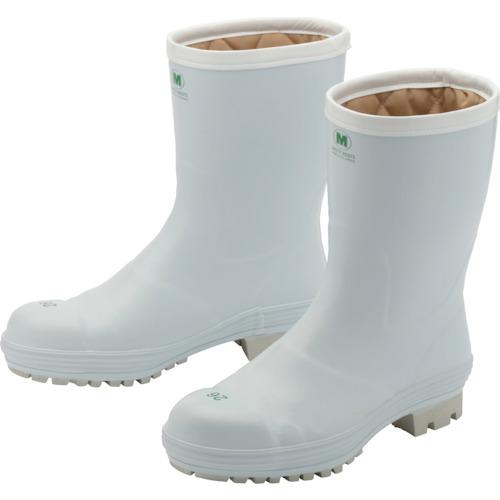 ■ミドリ安全 氷上で滑りにくい防寒安全長靴 FBH01 ホワイト 23.0cm〔品番:FBH01-W-23.0〕[TR-8370701]