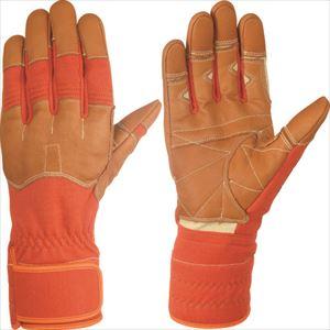■シモン 災害活動用保護手袋(アラミド繊維手袋) KG-160オレンジ KG160-L (株)シモン[TR-8370882]