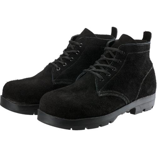 ■シモン 耐熱安全編上靴HI22黒床耐熱 27.5cm HI22BKT-275 (株)シモン[TR-8554811]