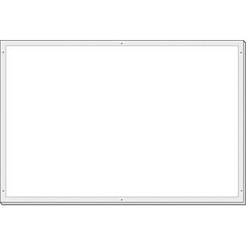 安全標識 KG-38 大型掲示板パーツ ホワイトボード 600×900mm ホーロー