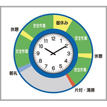 安全標識 KG-214 『安全施工サイクル(防湿時計付)』 小型掲示板パーツ 800×800mm 塩ビ [送料別途お見積り]