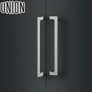 適応ドア:フレーム・フラッシュドア(ガラスドアにも取付可能) UNION(ユニオン) T1050-25-190 棒タイプ(ミドル/その他) L500mm 1セット(内外) 建築用ドアハンドル[ネオイズム]