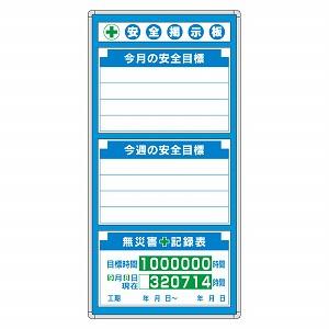 ユニット G安全掲示板 表示板セット 314-01A [個人宅配送不可]