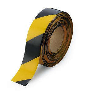 ユニット 床貼テープラインプロ 50mm幅×10m巻(黄/黒) 864-305