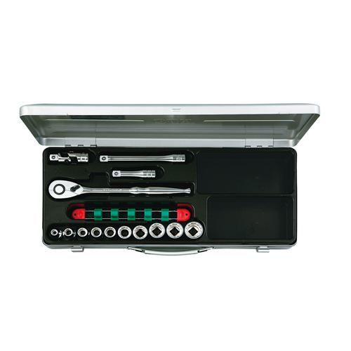 よく使うソケットレンチをホルダーにセットしました。 ◆京都機械工具 KTC ソケットレンチセット12.7 TB410X