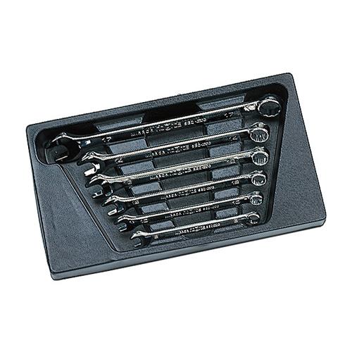 KTCのスパナとめがねの技術を持ち合わせた逸品です。 ◆京都機械工具 KTC ネプロス コンビネーションレンチセット NTMS206