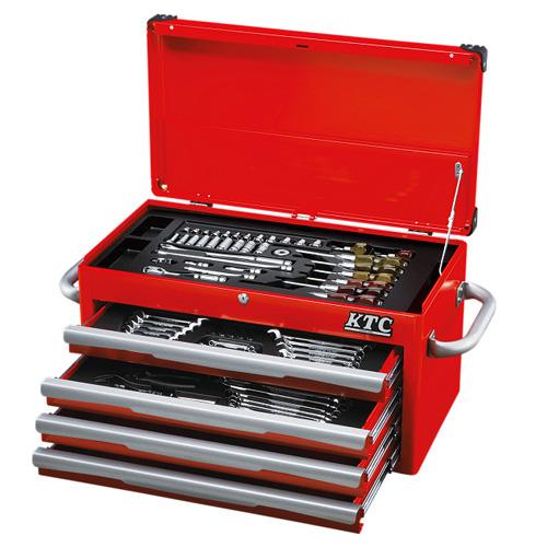 充実の入組内容で満足のいくネプロス最上級ツールセットです。 ◆京都機械工具 KTC ネプロス ツールセット NTX8700RA [個人宅配送不可]