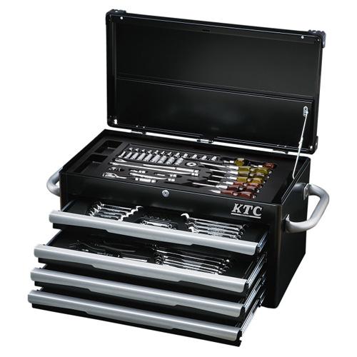 充実の入組内容で満足のいくネプロス最上級ツールセットです。 ◆京都機械工具 KTC ネプロス ツールセット NTX8700BKA [個人宅配送不可]