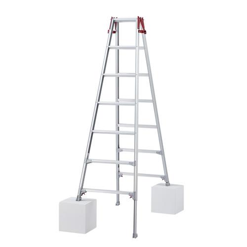 長谷川工業 脚部伸縮式(アジャスター) アルミ製はしご兼用脚立 RYZ-21b [大型・重量物]