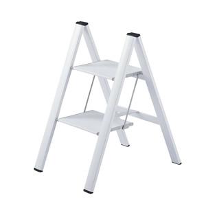 長谷川工業 アルミ製 踏み台 スリムステップ SJ-2d(WH) 2段 ホワイト 【在庫有り】【あす楽】