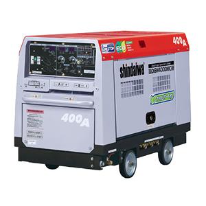 やまびこ(新ダイワ) ディーゼルエンジン発電機兼用溶接機 DGW400DMC-RCW 2人用 アイドリングストップ 車輪付 [送料別途お見積り]