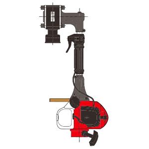 山田機械工業 ビーバービッグハンマー 杭打機(くい打ち) RP-041MS (ガイドパイプ・アンビル Φ65付) 【在庫有り】