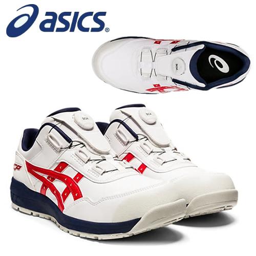 アシックス お歳暮 asics メーカー再生品 安全靴 ウィンジョブ CP306 Boa 1273A029-100 在庫有り カラー:ホワイト×クラシックレッド