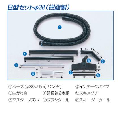 三立機器単相100V乾湿切替選択型集じん機JETコンパクトペール缶クリーナーJE250-3DB型アタッチメントセットΨ38(樹脂製)付モーター出力:1.0Kw