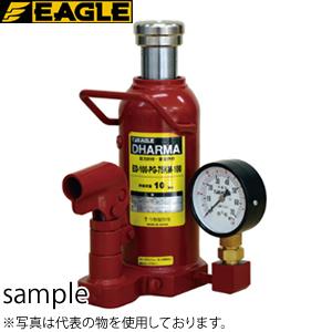 今野製作所(イーグル) 圧力計付油圧ダルマジャッキ ED-100-PG-75KM-100