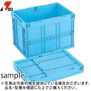 岐阜プラスチック工業 折りたたみコンテナー CB-S60W B:ブルー [個人宅配送不可]