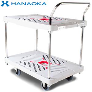 花岡車輌(HANAOKA) プラ台車二段式 W605*D935 300kg XA-BT2 [代引不可商品]