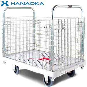 花岡車輌(HANAOKA) プラ台車カゴ台車 W605*D935 300kg XA-BW [代引不可商品]
