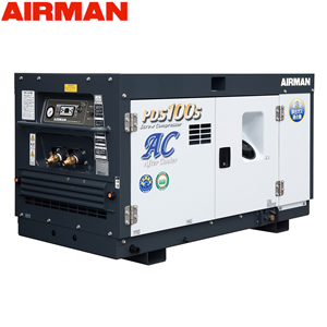 北越工業(AIRMAN) ディーゼルエンジンコンプレッサ PDS100SC-5C1 ボックスタイプ 空気量2.8m3/min 大型商品に付き納期・送料別途お見積り