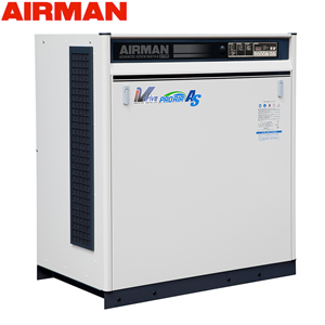 北越工業(AIRMAN) モータコンプレッサ SAS15VD 空冷タイプ 空気量2.8~2.35m3/min 大型商品に付き納期・送料別途お見積り