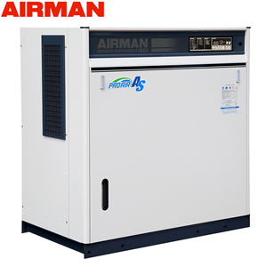 北越工業(AIRMAN) モータコンプレッサ SAS22RD 空冷タイプ 空気量4.1m3/min 大型商品に付き納期・送料別途お見積り