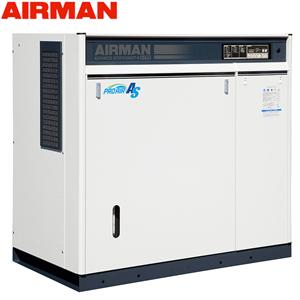 北越工業(AIRMAN) モータコンプレッサ SAS37RD 空冷タイプ 空気量6.9m3/min 大型商品に付き納期・送料別途お見積り