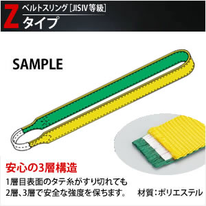 田村総業 一般玉掛け用ベルトスリング (エンドレス形ナイロンスリング) Z-4N-75X4.50m