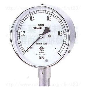 第一計器製作所 オールステンレス製圧力計 AT G1/4 60 圧力スパン6MPa 品番:AUT122006